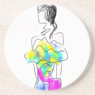 La Fleur Fashion Illustration Coaster