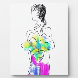 La Fleur Fashion Illustration Plaque