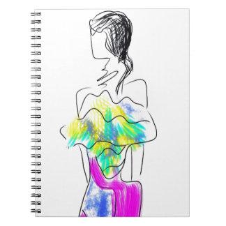 La Fleur Fashion Illustration Spiral Notebook