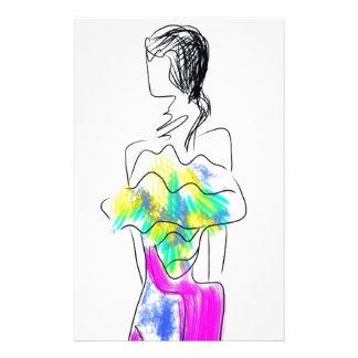 La Fleur Fashion Illustration Stationery