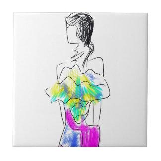 La Fleur Fashion Illustration Tile