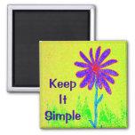 La fleur sauvage le maintiennent simple magnet carré