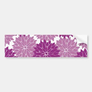 La fleur violette pourpre de lavande fleurit flora autocollant de voiture