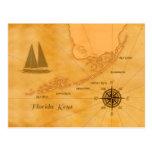 La Floride nautique vintage verrouille la carte Carte Postale