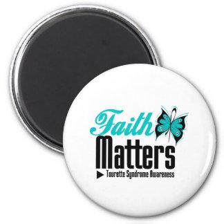 La foi importe syndrome de Tourette Magnets Pour Réfrigérateur