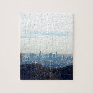 LA framed mountain Jigsaw Puzzle