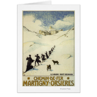 La France - ski de moines Carte De Vœux