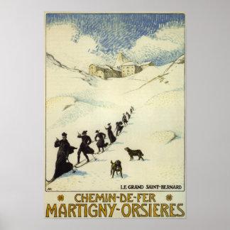 La France - ski de moines Poster