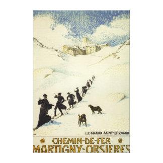 La France - ski de moines Toile Tendue