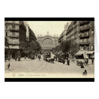 La Gare du Nord Paris, France c1905 Vintage Card