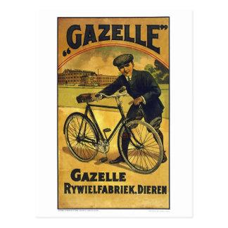 La gazelle fait un cycle l'affiche vintage de carte postale