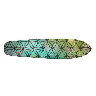 La géométrie sacrée skateboards personnalisés