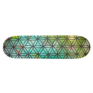 La géométrie sacrée plateaux de skateboards