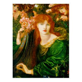 La Ghirlandata by Dante Gabriel Rossetti Postcard
