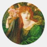 La Ghirlandata by Dante Gabriel Rossetti Sticker