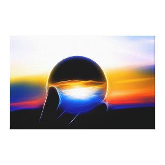 L'A glass sphere dans le néon se donne un style Impression Sur Toile