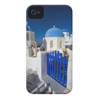 La Grèce et l'île grecque de la ville de Santorini Coques iPhone 4