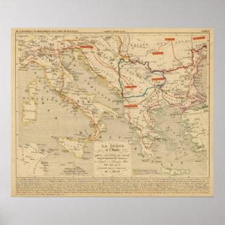La Grece et l'Italie, 306 a 410, ap JC Poster