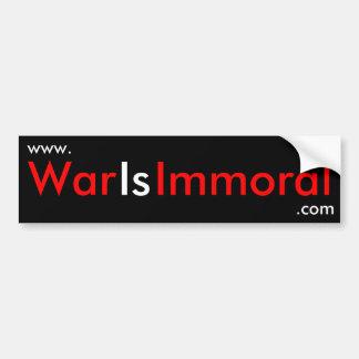 La guerre est adhésif pour pare-chocs immoral autocollant de voiture