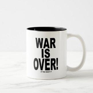 La guerre est terminée si vous la voulez tasse à café