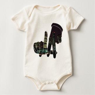 LA hands skyline Baby Bodysuit