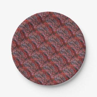 La hierba ardiente paper plate