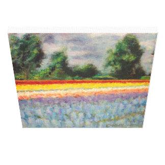 La Hollande fleurit le triptyque 1 de peinture de  Toiles Tendues Sur Châssis