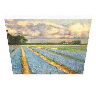 La Hollande fleurit le triptyque 3 de peinture de  Impressions Sur Toile