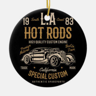 LA Hot Rods California Custom Engine Ceramic Ornament