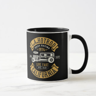 LA Hotrod California Drag Racing 1974 Mug