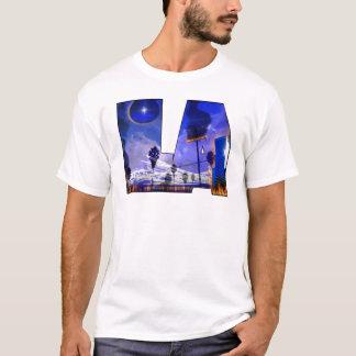 LA is burning graffitti hip hop HIP-HOP t-shirt