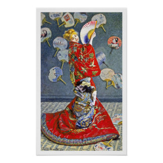 La Japonaise by French Impressionist Monet Poster
