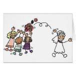La jeune mariée jette le bouquet à épouser Recptio Cartes De Vœux