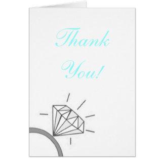 La jeune mariée vous remercient bleus carte de correspondance