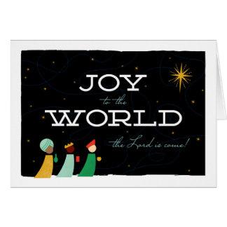 La joie aux sages du monde a plié le carte photo