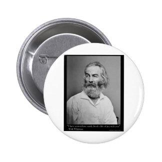 La joie de Walt Whitman avec vous aiment le tee -  Macaron Rond 5 Cm