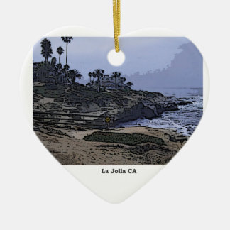 La Jolla Cove View Ceramic Ornament