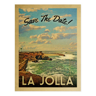 La Jolla Save The Date Vintage Postcards