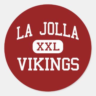 La Jolla - Vikings - High - La Jolla California Classic Round Sticker