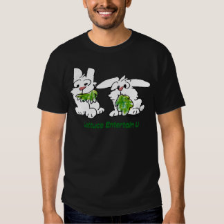 La laitue amusent des lapins de bande dessinée d'U T Shirts