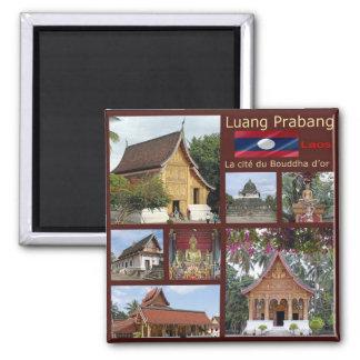 LA - Laos - Luang Prabang - Mosaic - Collage Magnet