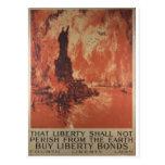 La liberté de la guerre mondiale 1 colle la carte postale