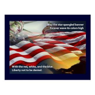 La liberté Étoile-a orné la bannière de paillettes Cartes Postales