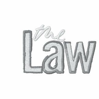 La loi - brodée - fermez la fermeture éclair le sw sweatshirt à capuche