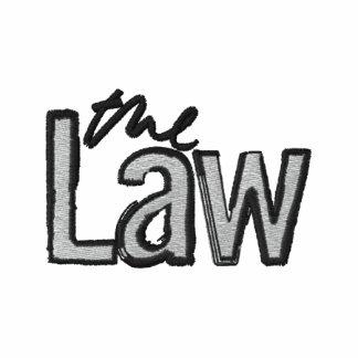 La loi - brodée - veste à capuchon grise