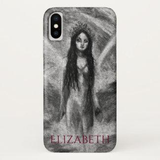 La Luna Dark Angel Fairy Woman Goth Fantasy Art iPhone X Case