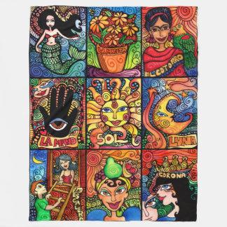 La Luna, El, Sol and the Mermaid Fleece Blanket