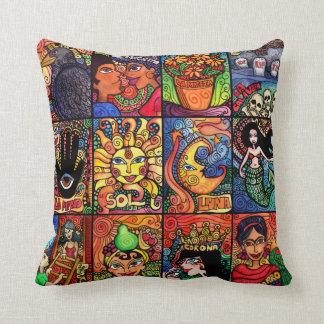 La Luna, El, Sol and the Mermaid Throw Pillow