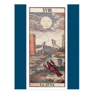 La luna tarot card postcard