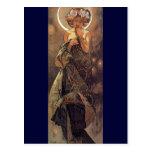 La lune - art Nouveau Cartes Postales